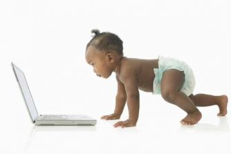 Image of bonnie baby on laptop, hypnosis in galway, galway hypnosis, hypnotherapy in galway, hypnotherapy galway, galway hypnotherapist, hypnotherapist in galway, ballinasloe